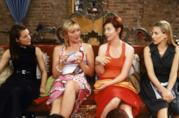 Charlotte, Samantha, Miranda e Carrie a fare la pedicure