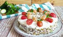 Torta con pomodorini e salmone