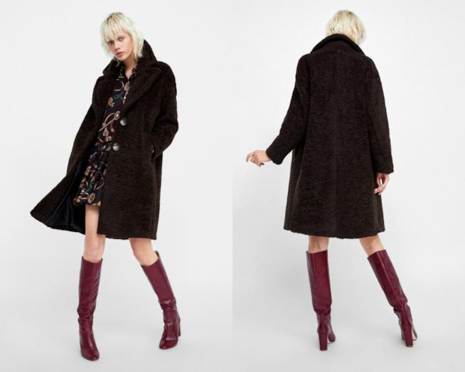 Cappotto finta pelliccia di moda