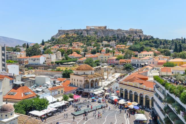 Vista del quartiere ateniese di Monastiraki
