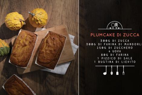Gli ingredienti per un plumcake di zucca