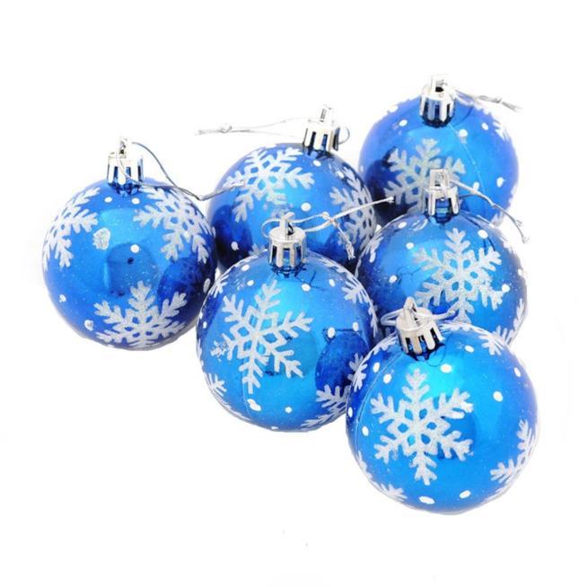 Palline azzurre per decorare l'albero di Natale