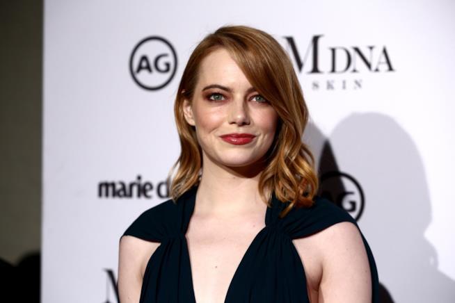 Emma Stone durante un evento Marie Claire