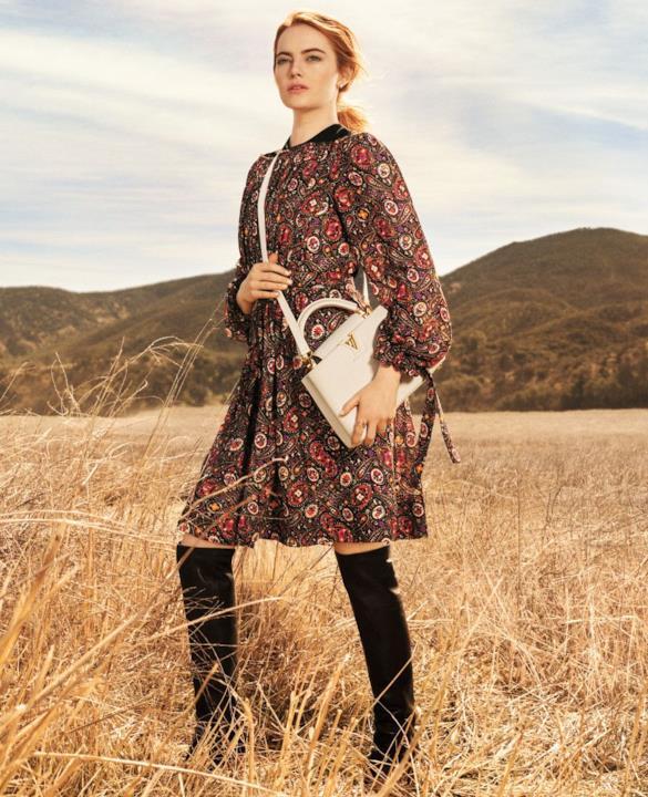 Emma Stone nella campagna per Louis Vuitton