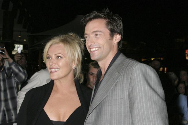 Hugh Jackman e la moglie in primo piano