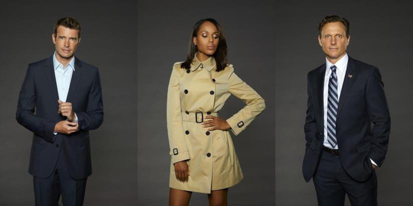 Jake, Olivia e Fitz in un'immagine promozionale di Scandal