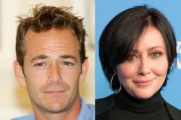 Gli atori Luke Perry e Shannen Doherty