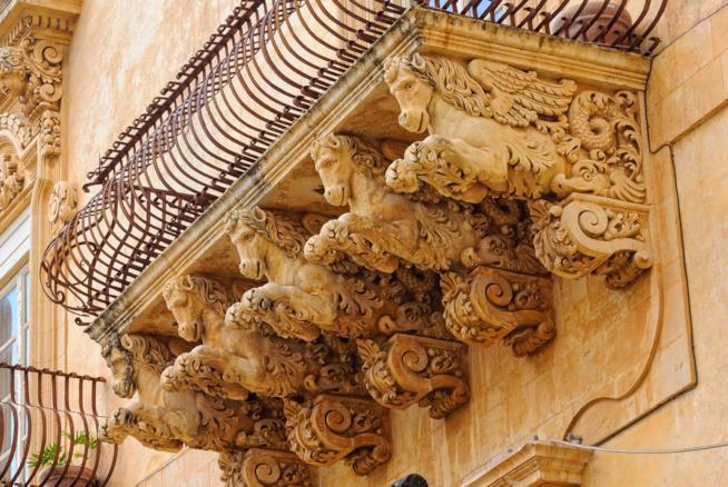Un terrazzo di Noto, Sicilia.