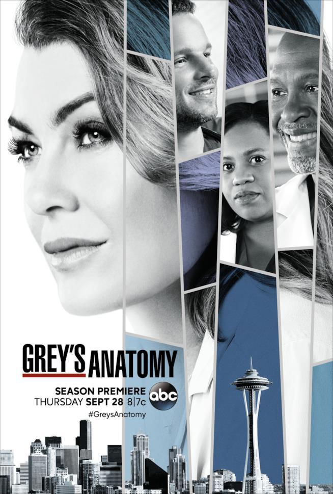 Meredith non è sola nel poster di Grey's Anatomy 14