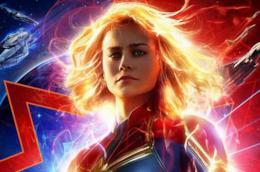 poster di Captain Marvel con Brie Larson