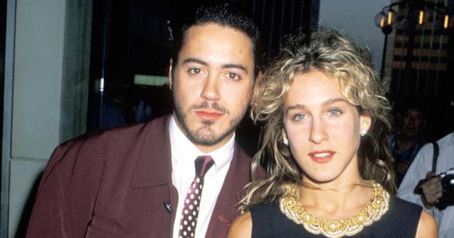 Una vecchia foto di Robert Downey Jr. e Sarah Jessica Parker
