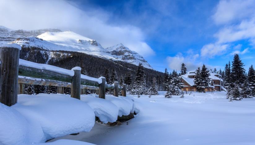 villaggio di Banff, Alberta, Canada