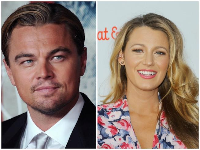 Primo piano di Blake Lively e Leonardo DiCaprio