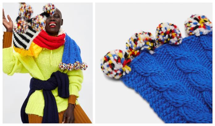 Multicolore, la sciarpa in stile patchwork di tendenza per l'autunno inverno 2018