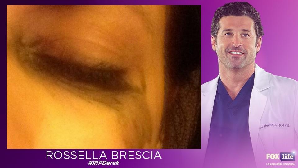 Anche Rossella Brescia ha pianto per la morte di derek Shepherd