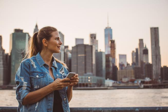 Donna single in una città degli Usa