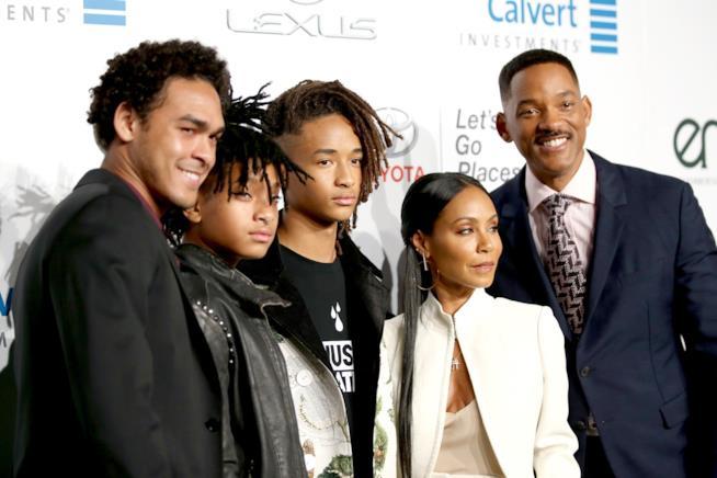 Jada Pinkett Smith con il resto della famiglia