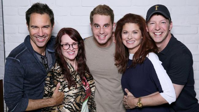 Ben Platt e il cast della serie Will & Grace