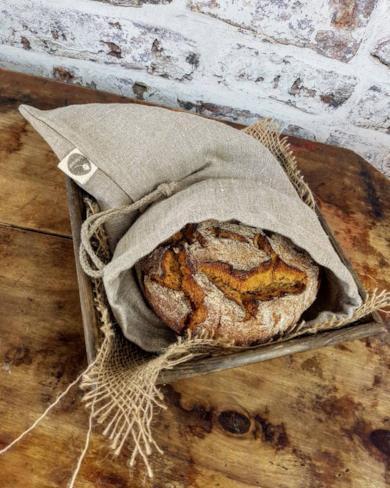Sacchetto in lino per il pane