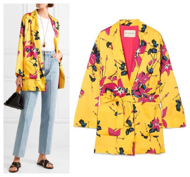 Gialla, il blazer fiorato di tendenza per l'autunno 2018