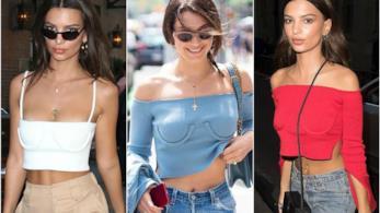 Tendenza moda, i corsetti di  Emily Ratajkowski eBella Hadid