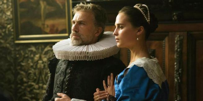 Christoph Waltz e Alicia Vikander protagonisti di La ragazza dei tulipani