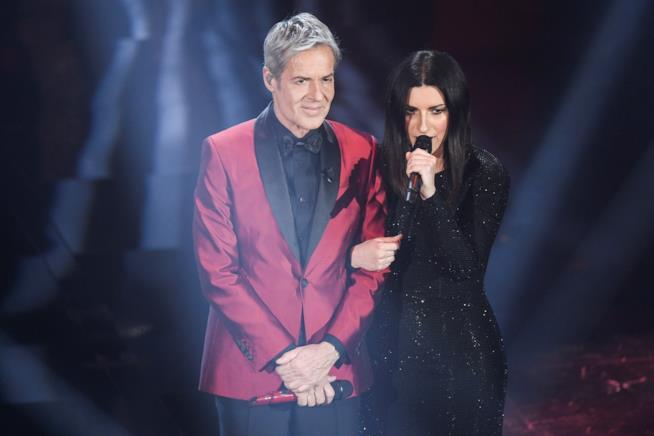 Claudio Baglioni sul palco del Festival di Sanremo 2019