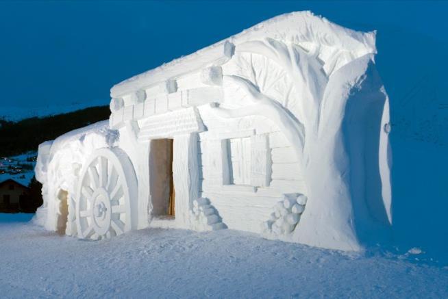 San Valentino a Livigno in uno chalet di neve
