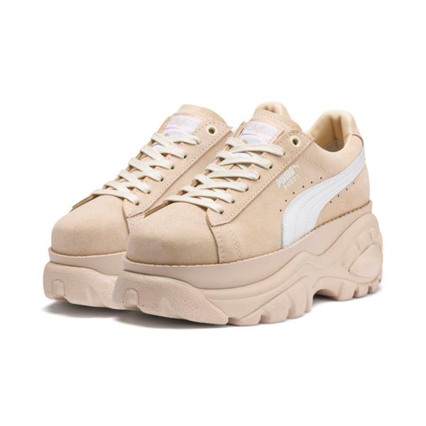 Sneakers PUMA x BUFFALO in pelle scamosciata colore beige chiaro pastello