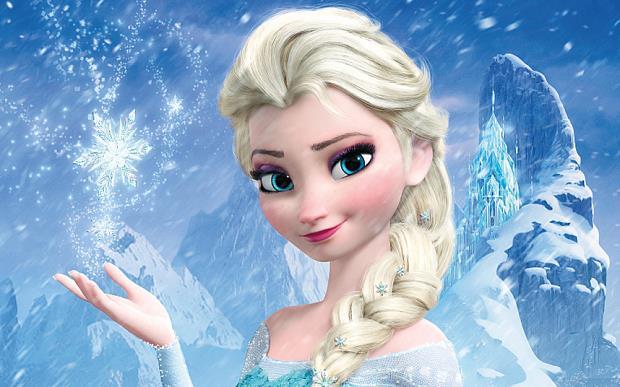 Elsa in una scena di frozen