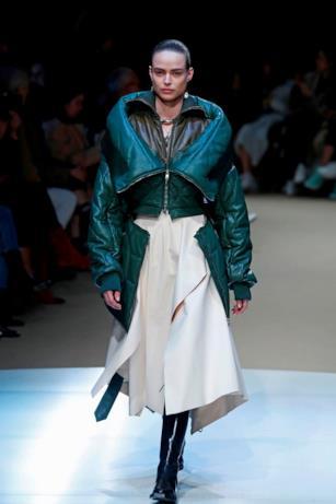 Verde sui giubbotti di Alexander McQueen