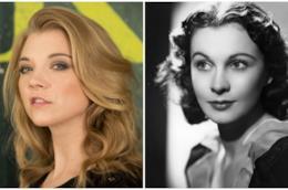 Collage tra Natalie Dormer e Vivien Leigh