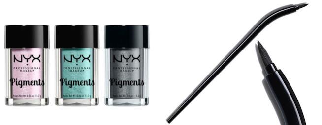 Pigmenti e pennello eyeliner