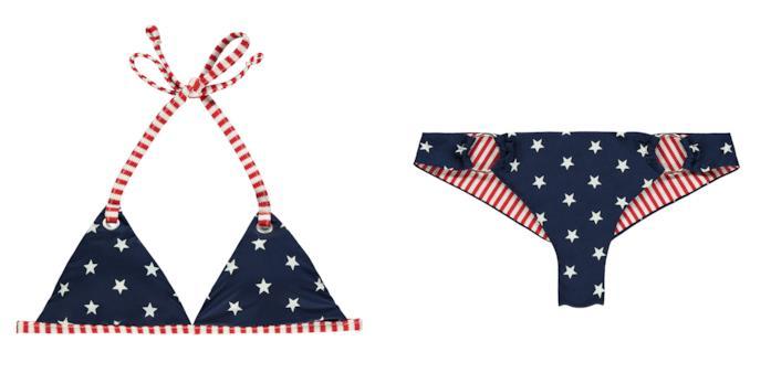 Il modello di bikini Tezenis 2018 con bandiera americana