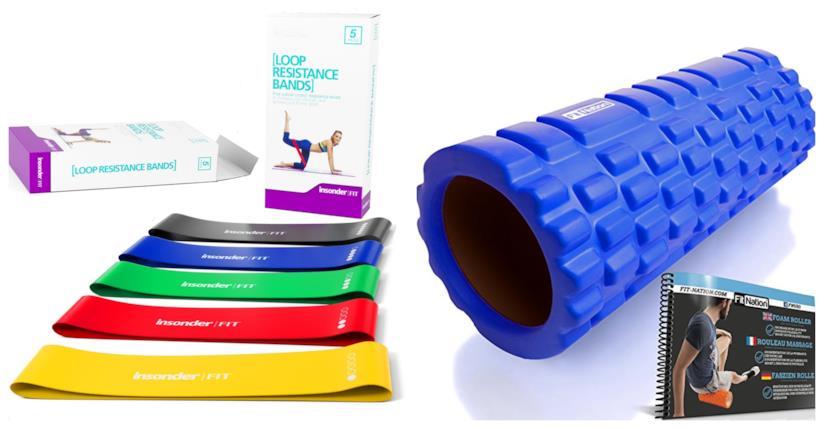 Attrezzi per eseguire il pilates e gli esercizi di stretching