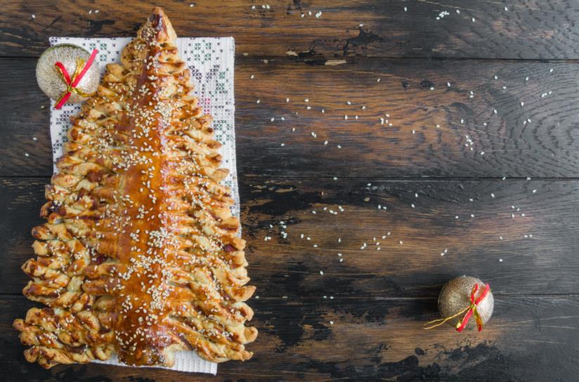 Dolce a forma di Albero di Natale con Nutella