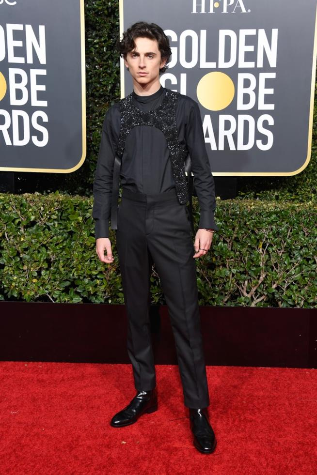 Timothee Chalamet sul red carpet