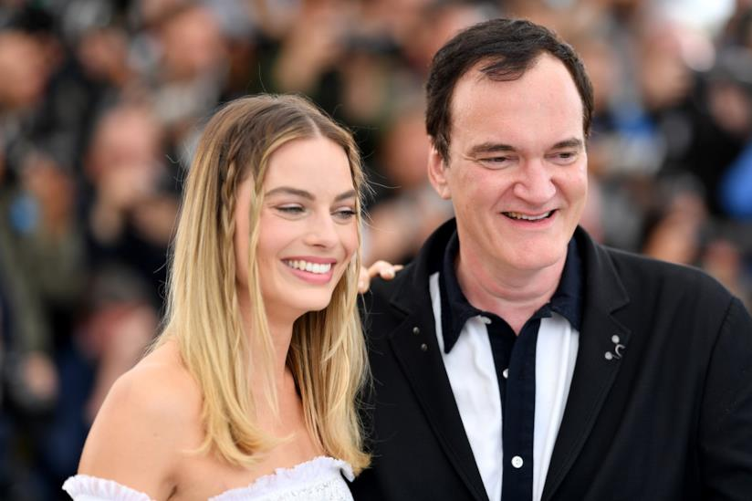 Margot Robbie - Quentin Tarantino - Photocall Cannes 72