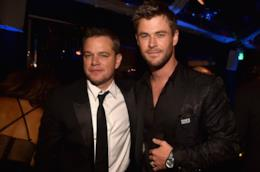 Matt Damon e Chris Hemsworth