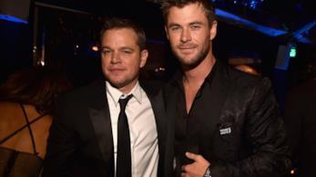 Matt Damon e Chris Hemsworth