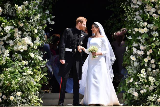 Gli addobbi floreali Royal wedding