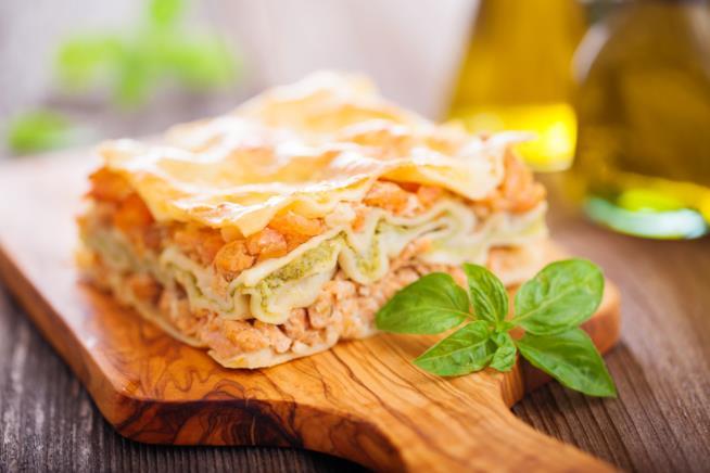 Lasagne di mare con gamberetti