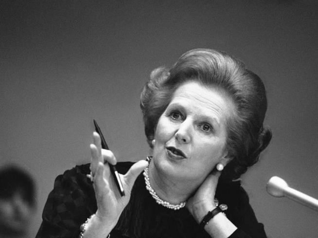 Primo piano di Margaret Thatcher