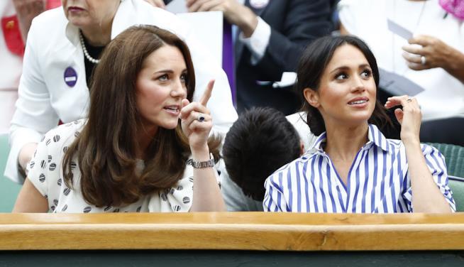 Meghan Markle e Kate Middleton a Wimbledon