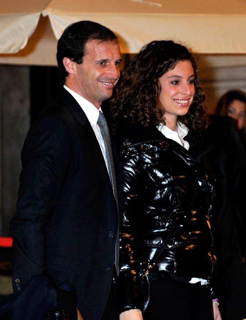 Massimiliano Allegri e la figlia Valentina