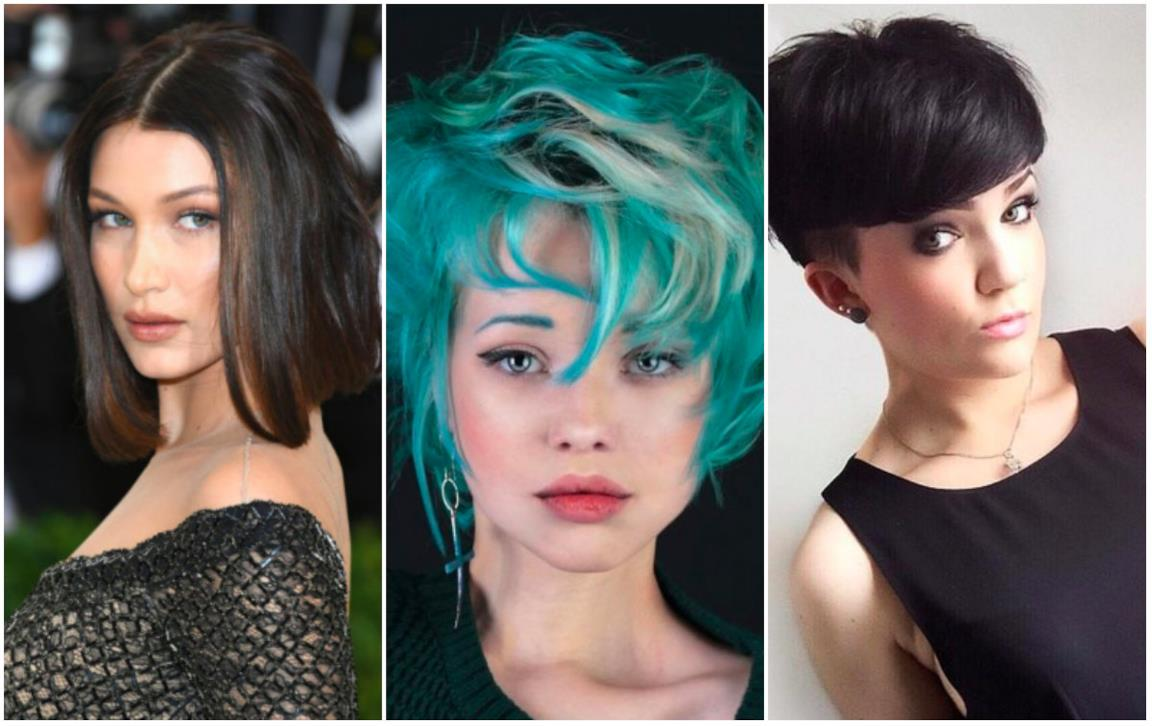 Un collage di 3 hairstyle 2017