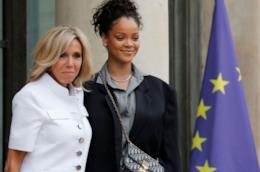 Rihanna e Brigitte Macron