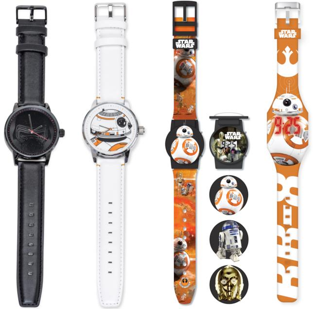 4 orologi da polso Joy Toy ispirati a Star Wars