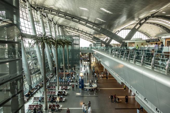 L'interno dell'Hamad International Airport