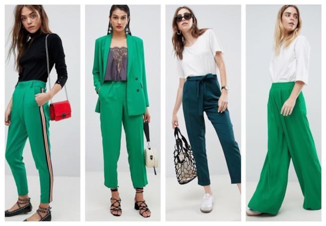 Verde, i pantaloni di moda A/I 2018-19